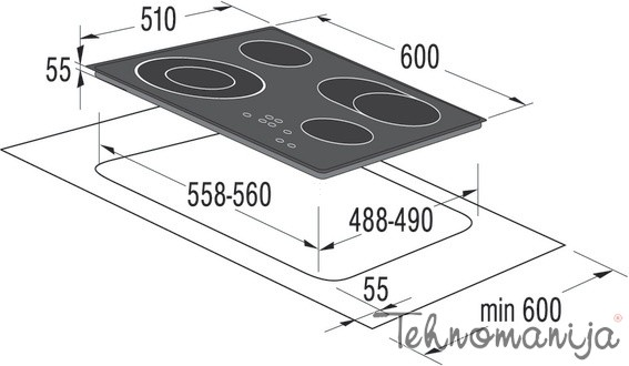Gorenje ugradna ploča ECT620CSC