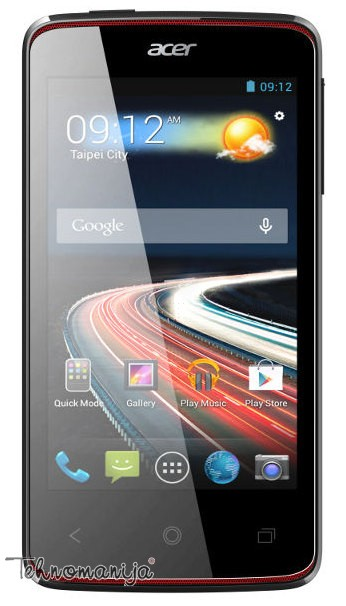 "ACER Mobilni telefon LIQUID Z4 BLACK 4"", 512MB, 5 Mpix, Crni"