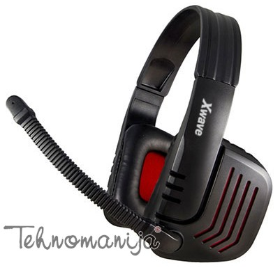X Wave slušalice sa mikrofonom HD 450G RED