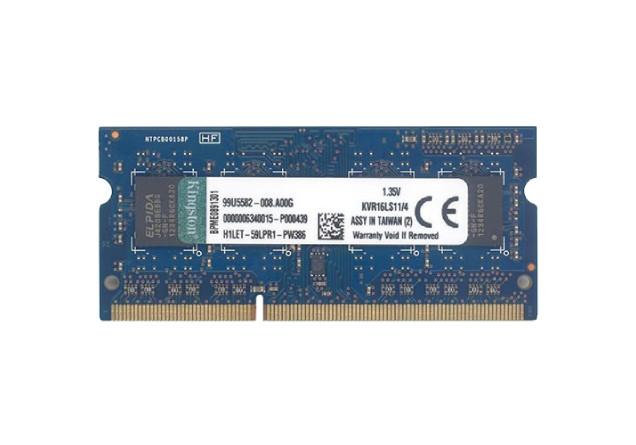 Kingston SODIMM DDR3 4GB 1600MHz KVR16LS11/4 1.35V