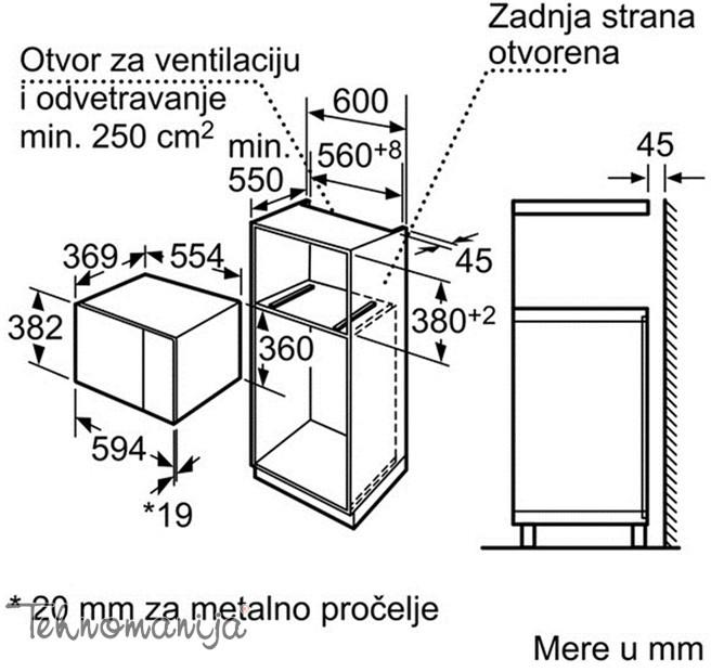 BOSCH Mikrotalasna rerna HMT 84G654