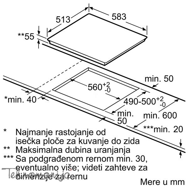 Bosch ugradna ploča PIB 645B17E