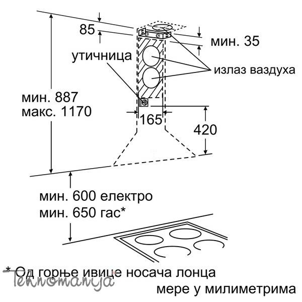 BOSCH Aspirator DWA 061451