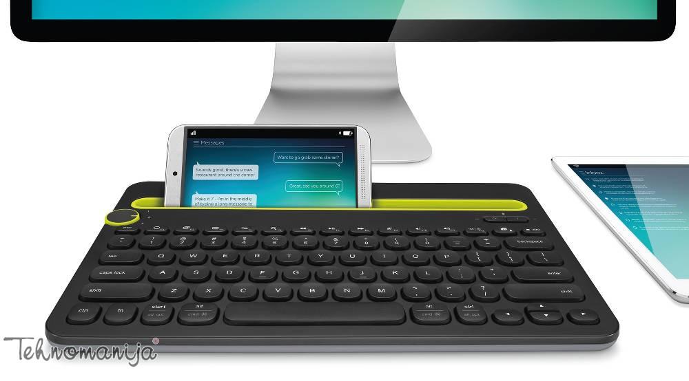 Logitech bežična tastatura K480 BLACK