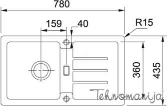 Franke sudopera Strata STG 614-78 114.0303.669