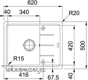 Franke sudopera Basis BFG 611-62 114.0301.332