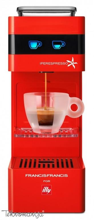 Illy aparat za espresso Y3 CRVENI