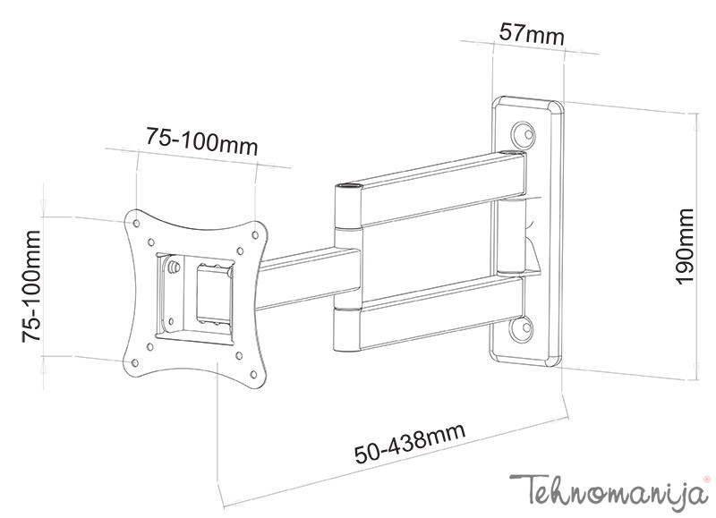 S Box nosač za televizor LCD 903