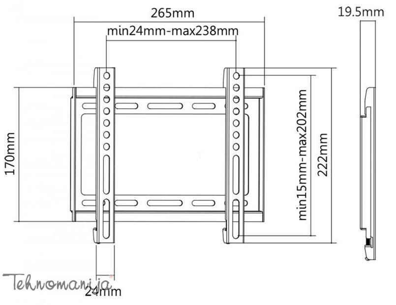 S Box nosač za televizor PLB 2222F