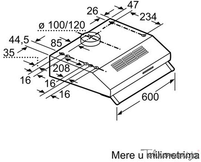 Bosch ugradni aspirator DHU 642D