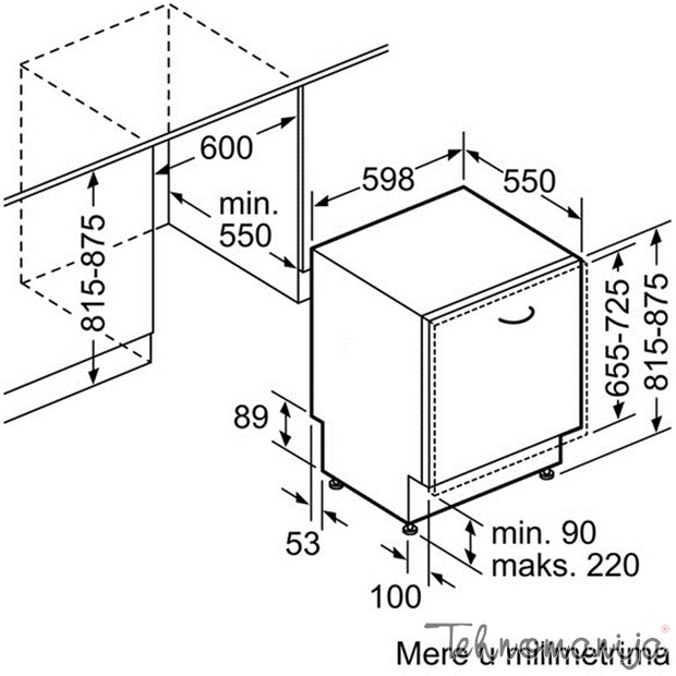 Bosch ugradna sudomašina SMV 88TX03E