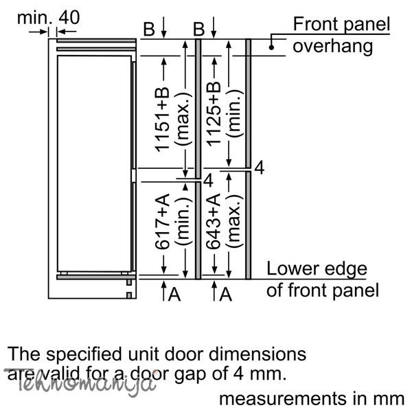 BOSCH Ugradni frižider KIV 87VF30, Low Frost