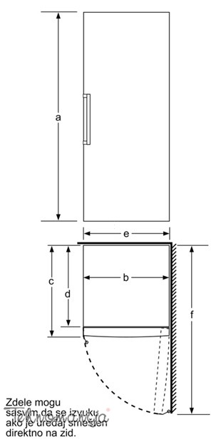 BOSCH Vertikalni zamrzivač GSV 33VW31, Ručno otapanje