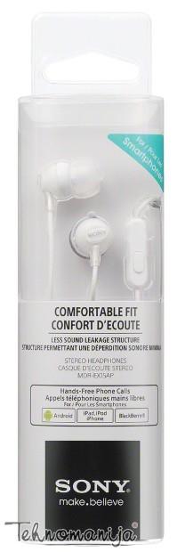 Sony slušalice sa mikrofonom MDR-EX15APW