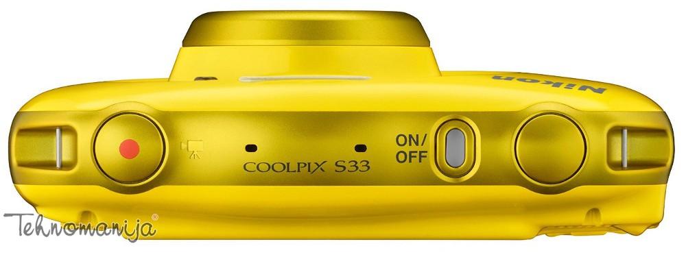 Nikon fotoaparat Coolpix S33 ZUTI SET