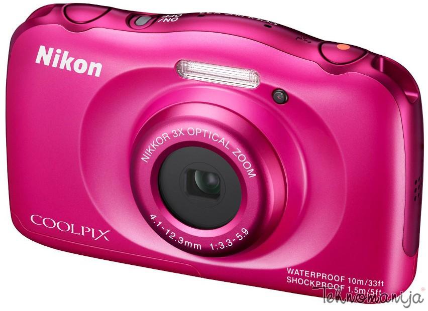 Nikon fotoaparat Coolpix S33 PINK SET