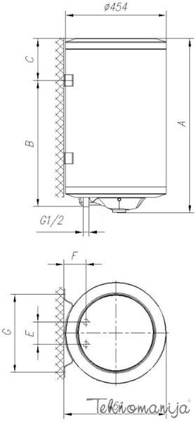 Gorenje bojler TGR80X