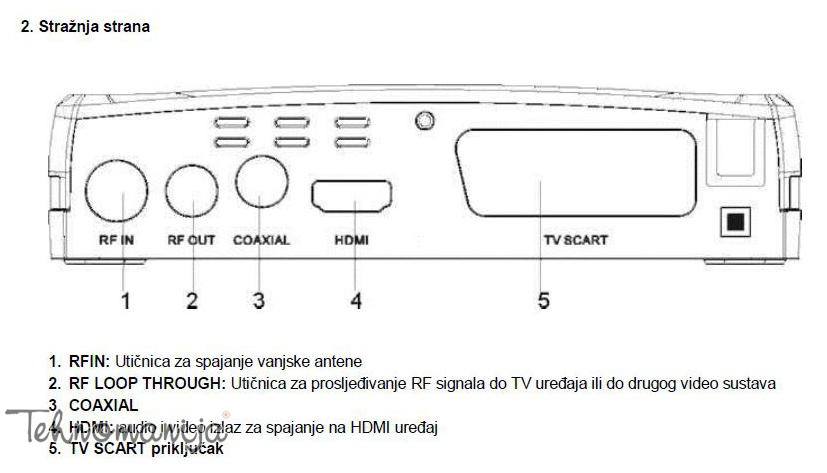 Vivax set-top box DVB-T2 153