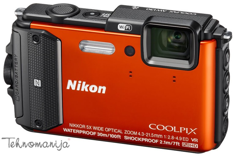 Nikon fotoaparat Coolpix AW-130 ORANGE