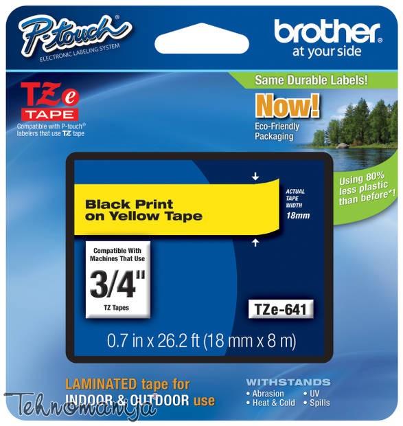 Brother traka za štampač nalepnica TZe641