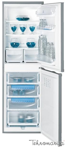INDESIT Kombinovani frižider CAA 55 NX, Ručno otapanje