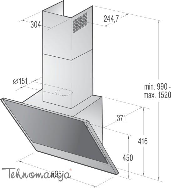 Gorenje aspirator WHI641A3XGB