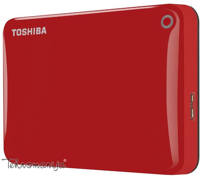 """Toshiba Canvio Connect II 2.5""""500GB Red, USB 3.0 eksterni hard di"""
