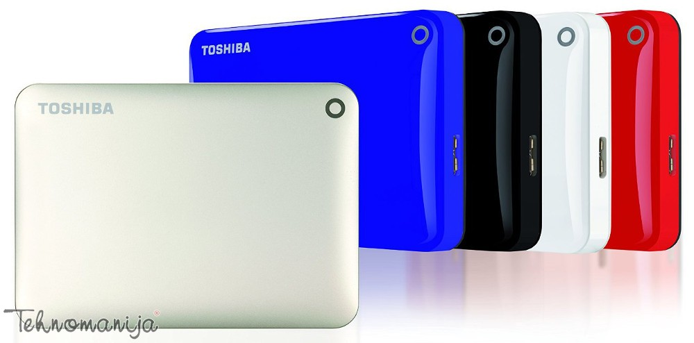 "Toshiba Canvio Connect II 2.5""1TB Blue, USB 3.0 eksterni hard dis"