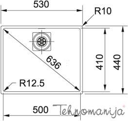 Franke sudopera Centinox CMX 110-50 122.0281.723