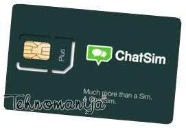 ChatSIM kartica za chat aplikacije