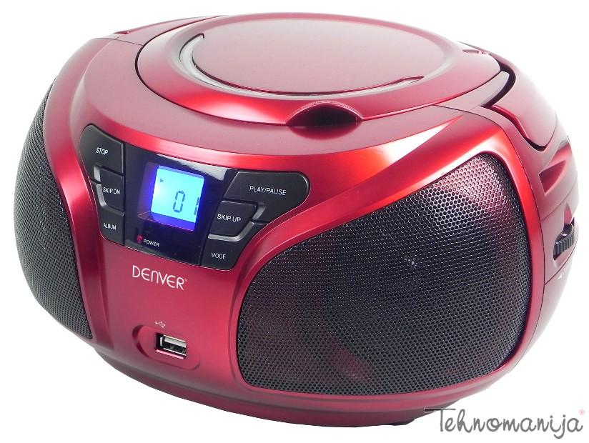 DENVER Radio CD TCU 206 CRVENI
