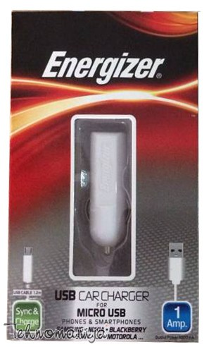 Energizer autopunjač MICRO USB 1A