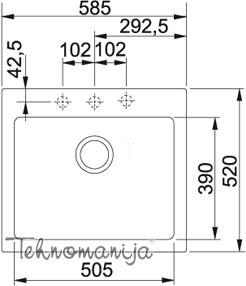 Franke sudopera MRG 610-58 114.0302.699