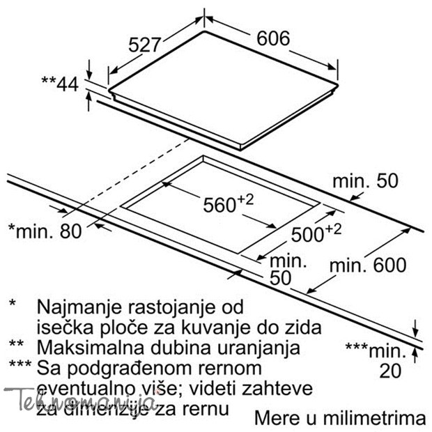 BOSCH Ugradna ploča PKN 675DP1D