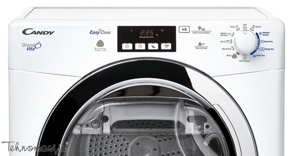 CANDY Mašina za sušenje veša GVH D913 A2, Toplotna pumpa