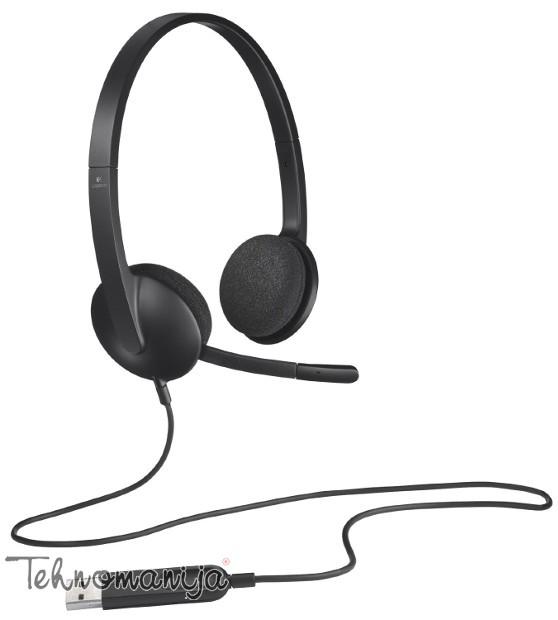 Logitech slušalice sa mikrofonom H 340