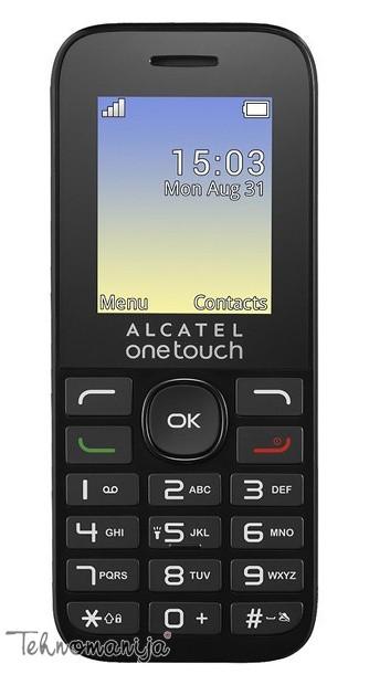 """ALCATEL Mobilni telefon 1016D BLACK 1.8"""", 4 MB"""