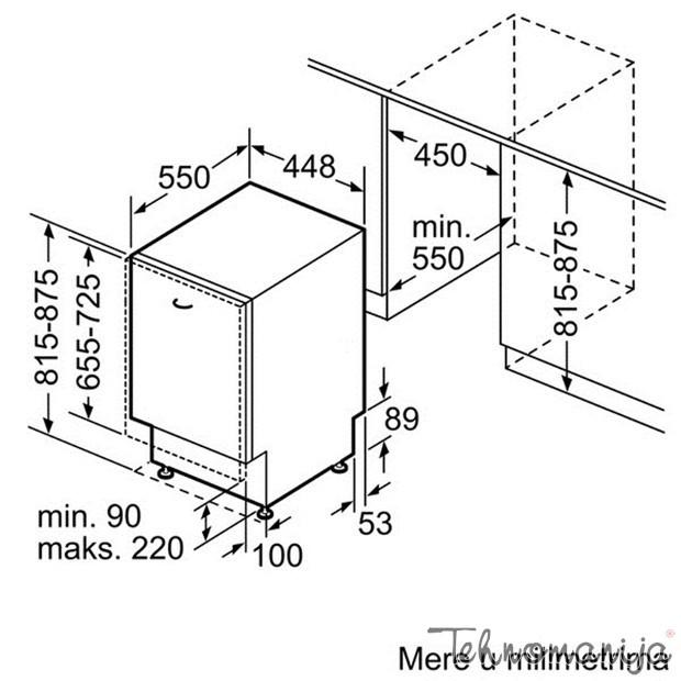 BOSCH Mašina za pranje sudova SPV 40E80EU, Ugradna