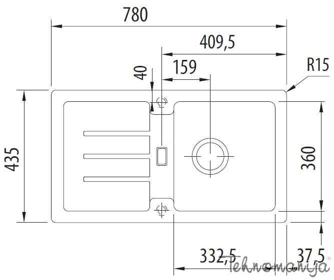 Franke set STG 61478+ 750 GB