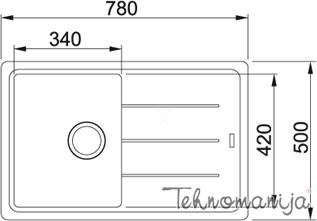 Franke sudopera BFG 611-78 114.0277.261