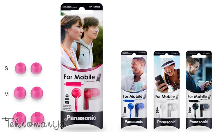 Panasonic slušalice sa mikrofonom RP-TCM105E-A