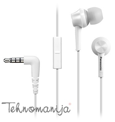 Panasonic slušalice sa mikrofonom RP-TCM105E-W