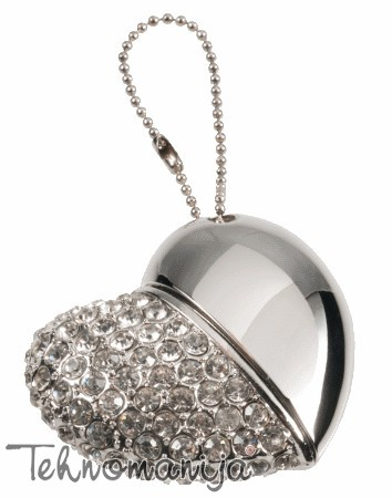 X WAVE USB Flash Diamond Heart