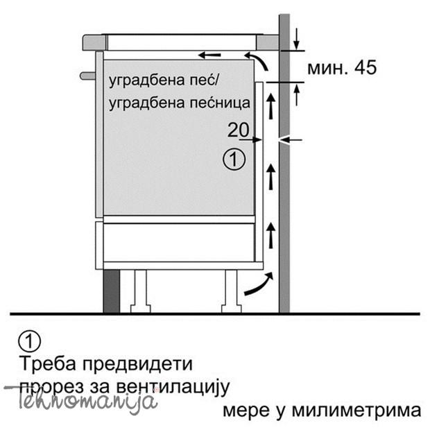 Bosch ugradna ploča PXE 675DC1E