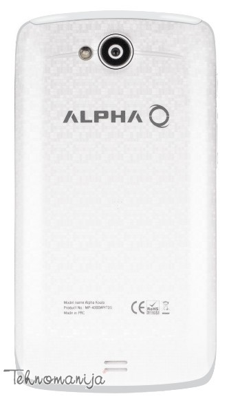 ALPHA Smart mobilni telefon KOALA DS WHITE, 512 MB, 5 Mpix