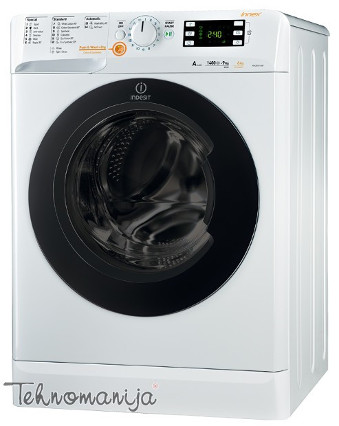 INDESIT Mašina za pranje i sušenje veša XWDE 961480X WKKC EU