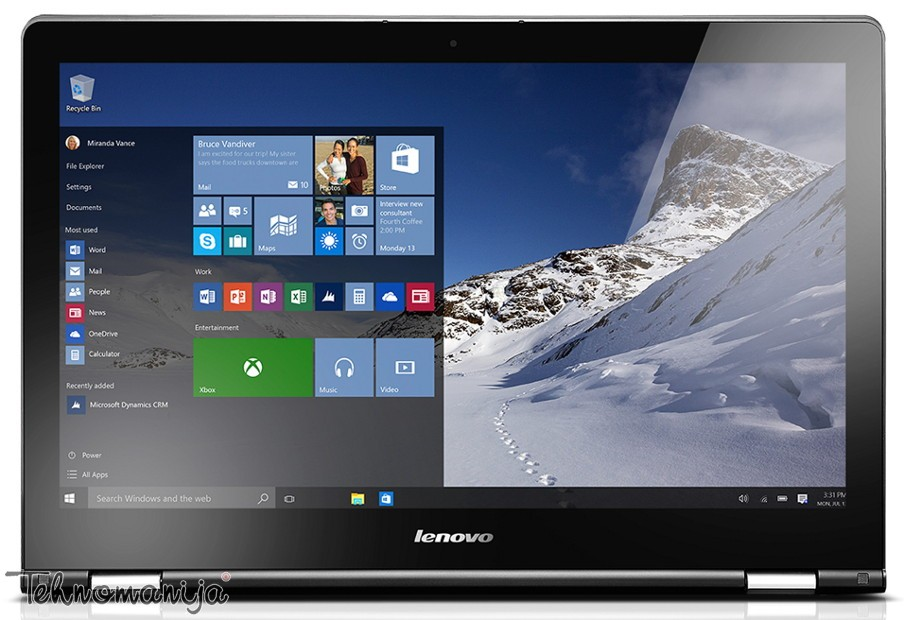 Lenovo laptop IdeaPad Yoga 500-15 80N600J7YA