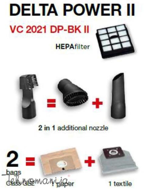 GORENJE Usisivač VC2021DPBKII, 2000W