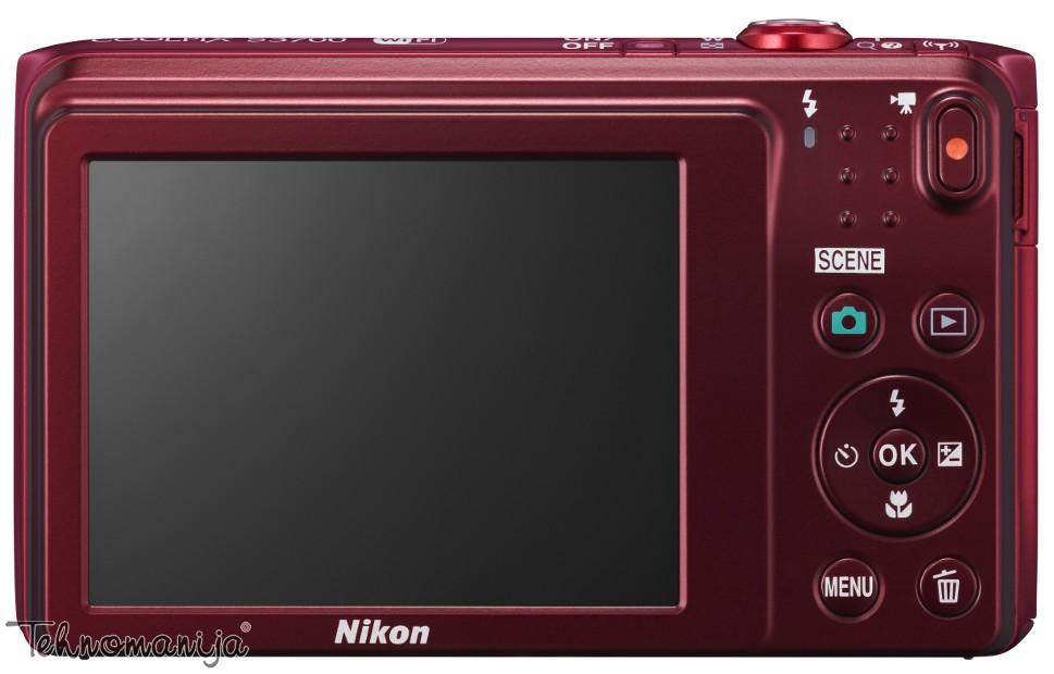 Nikon fotoaparat Coolpix S3700 CRVENI SET