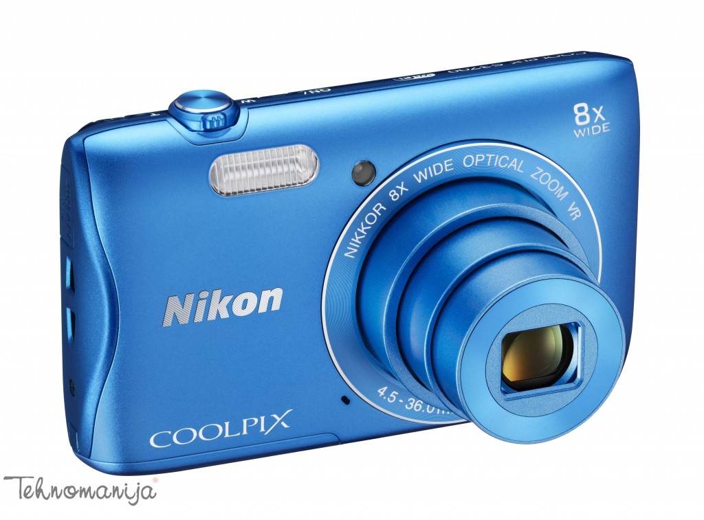 Nikon fotoaparat Coolpix S3700 PLAVI SET